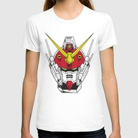 gundam T-shirts featuring Heavyarms Gundam Wing by Andrew Huckleberry