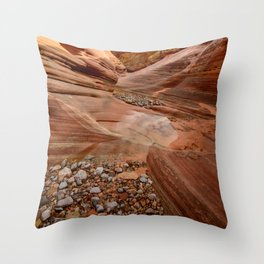 After the Rain - 4, Valley_of_Fire Canyon, Nevada Throw Pillow