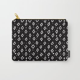 Contemporary Black & White Geometrical Shapes Pattern Carry-All Pouch