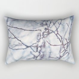 Snow Branches Rectangular Pillow