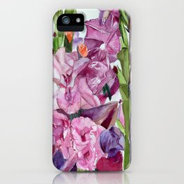 Gladiolus Forest  iPhone Case