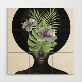 Tropical Girl Wood Wall Art