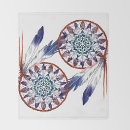 Dreamcatcher Mandala Throw Blanket