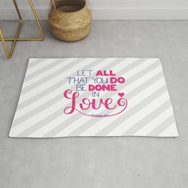 Be Done in Love Rug