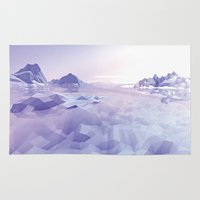 low poly Area & Throw Rugs featuring Low Poly Art by NewLineGraphics