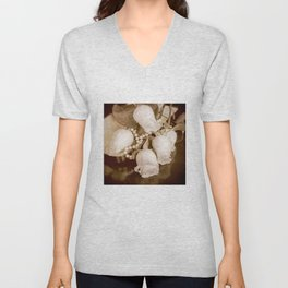 Pearl and roses Unisex V-Neck