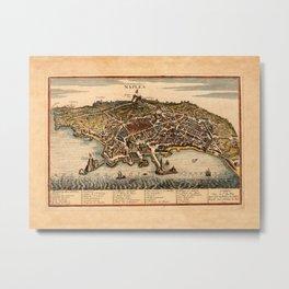 Map Of Naples 1701 Metal Print