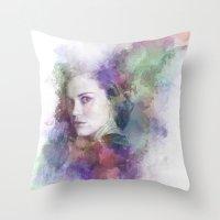 lydia martin Throw Pillows featuring Lydia Martin by NKlein Design