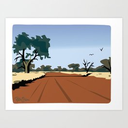 CA dirt road Art Print