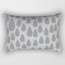 Grey drops Rectangular Pillow