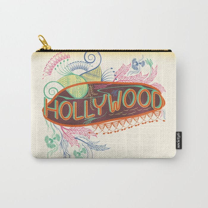 Decorative Typographic Carry-All Pouch