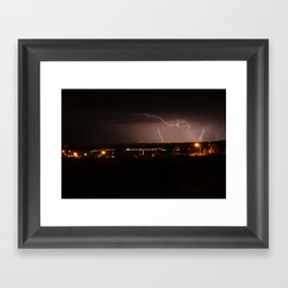 Electrical Storm over Santa Fe, NM Framed Art Print