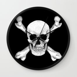 Jolly Roger - Deaths Head Pirate Skull Charge Wall Clock