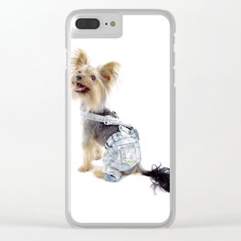Milo the Yorkie Clear iPhone Case