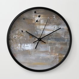 Silver and Gold Abstract Wall Clock