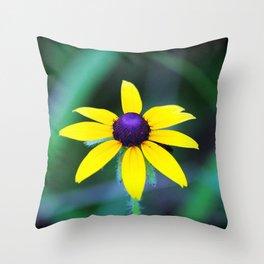 Wild Black Eyed Susan Throw Pillow