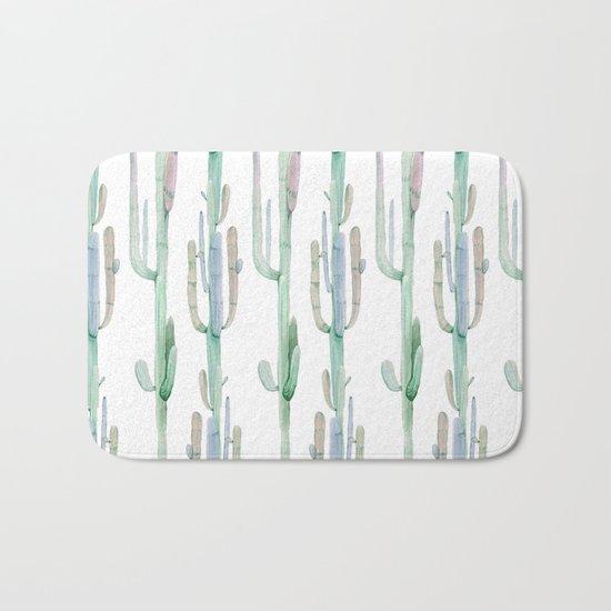 Arizona Wilderness Cactus Pattern Bath Mat