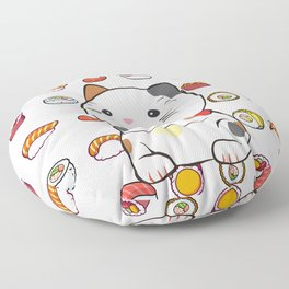 sushinya kawaii cat Floor Pillow