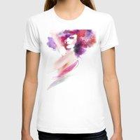 woman T-shirts featuring woman by tatiana-teni