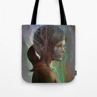 artgerm Tote Bags featuring The last hope by Artgerm™