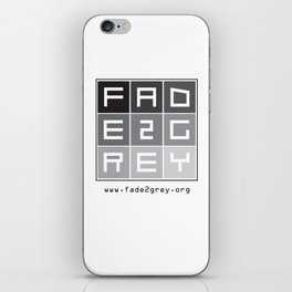 fade 2 grey iPhone Skin
