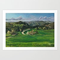 Road In The Mountains Art Print