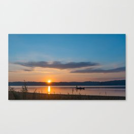 Morning Catch Canvas Print