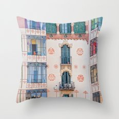 Surreal house in Barcelona. Throw Pillow
