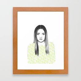 Summer Girl- Green Framed Art Print