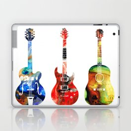 Guitar Threesome - Colorful Guitars By Sharon Cummings Laptop & iPad Skin