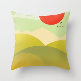 Countryside beauty Throw Pillow