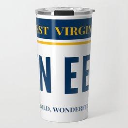 West Virginia License Plate Travel Mug