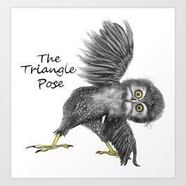Triangle pose Art Print