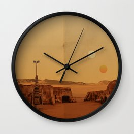 The Desert Planet of Tatooine Wall Clock