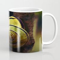 snail Mugs featuring Snail by LoRo  Art & Pictures