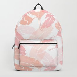 Pink Banana Leaves Backpack