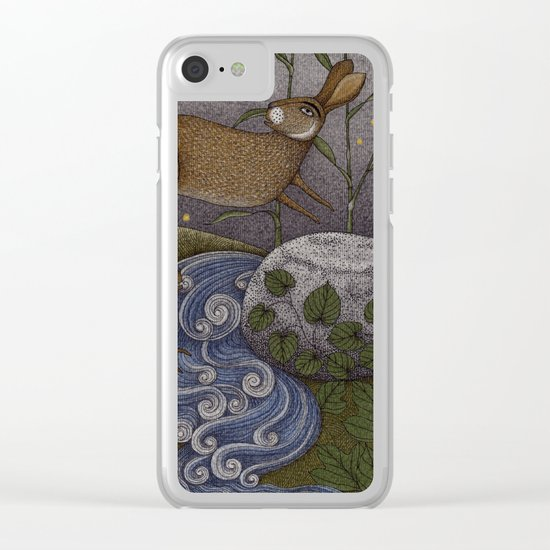 Swamp Rabbit's Reedy River Race Clear iPhone Case