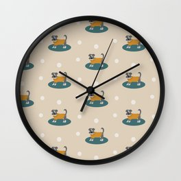 Apple the Schnauzer with yellow jumper Wall Clock