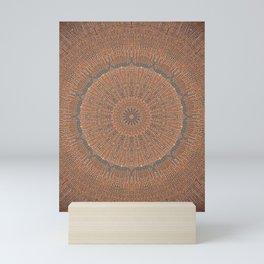 Tree Growth Ring Mandala Mini Art Print