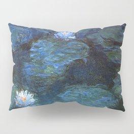 Monet water lilies 1899 blue teal Pillow Sham