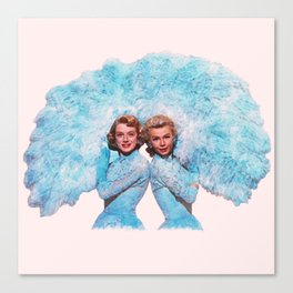 Sisters - White Christmas - Watercolor Canvas Print