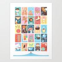 alphabet Art Prints featuring Alphabet by Emily Golden