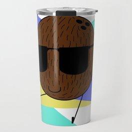 Cool Coconut Guy - 90s Aesthetic Travel Mug