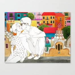 Barcelona Love Canvas Print