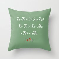 math Throw Pillows featuring Math love by DiegoC