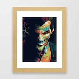 Joker Pop Art Portrait Framed Art Print