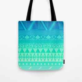 Blue Mayan Tote Bag