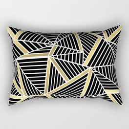 Ab Lines 2 Gold Rectangular Pillow