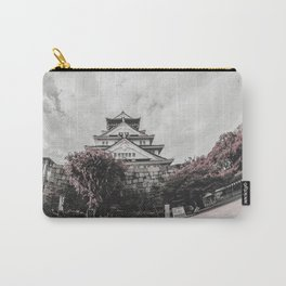 Osaka Castle in Red Carry-All Pouch
