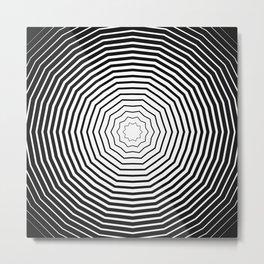 Black Zigzag Portal Metal Print